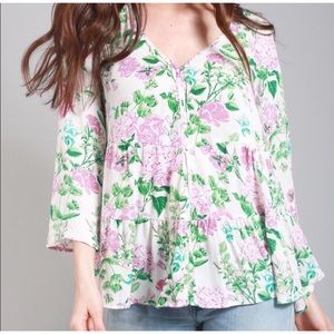 Show Me Your MuMu Marlow Floral Print Swing Top